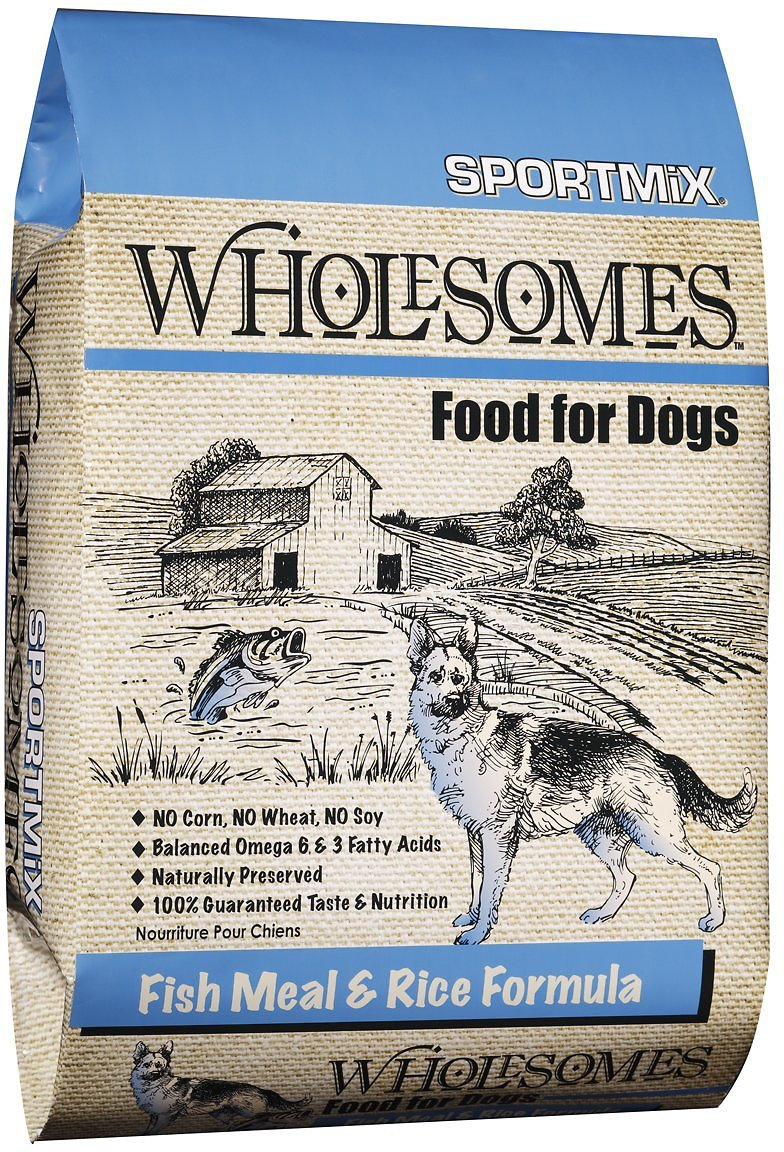 SPORTMiX Wholesomes with Fish Meal & Rice Formula Adult Dry Dog Food, 40-lb bag