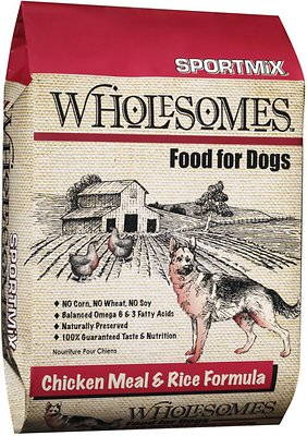 SPORTMiX Wholesomes Chicken Meal & Rice Formula Adult Dry Dog Food, 40-lb bag