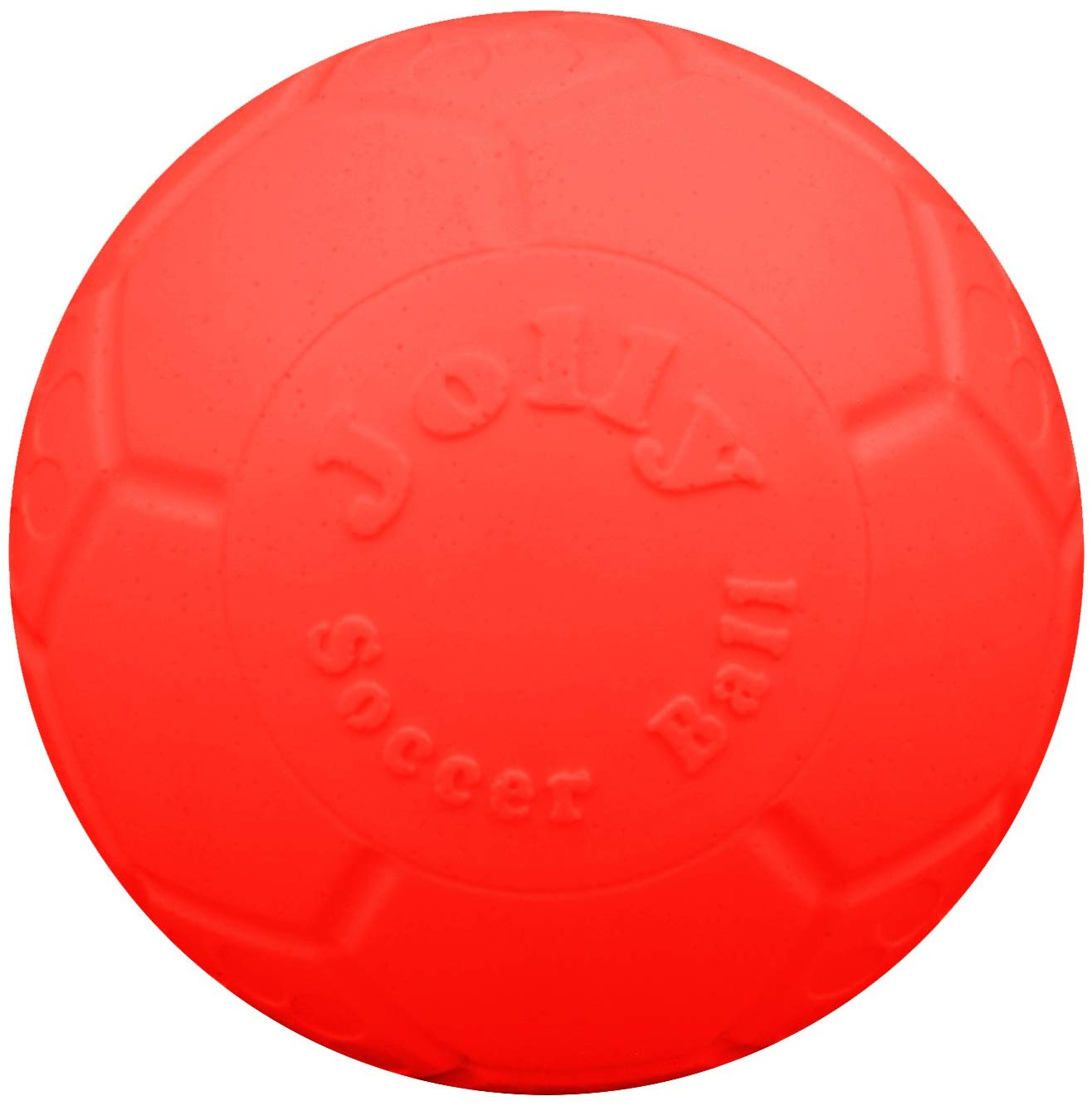 Jolly Pets Soccer Ball Dog Toy, Orange, 6-in