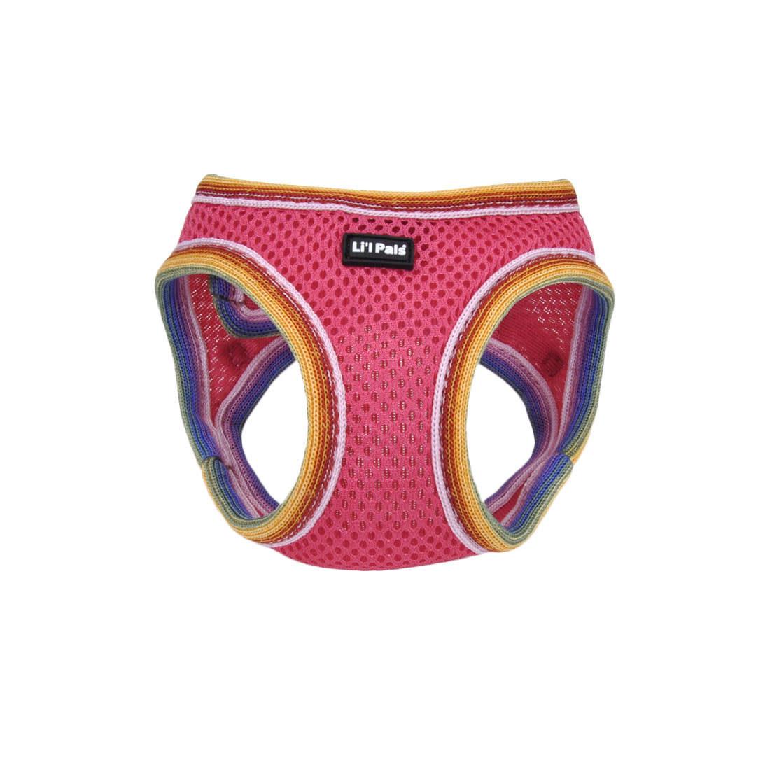 Li'l Pals Comfort Mesh Dog Harness, Bright Pink, 10-12-in