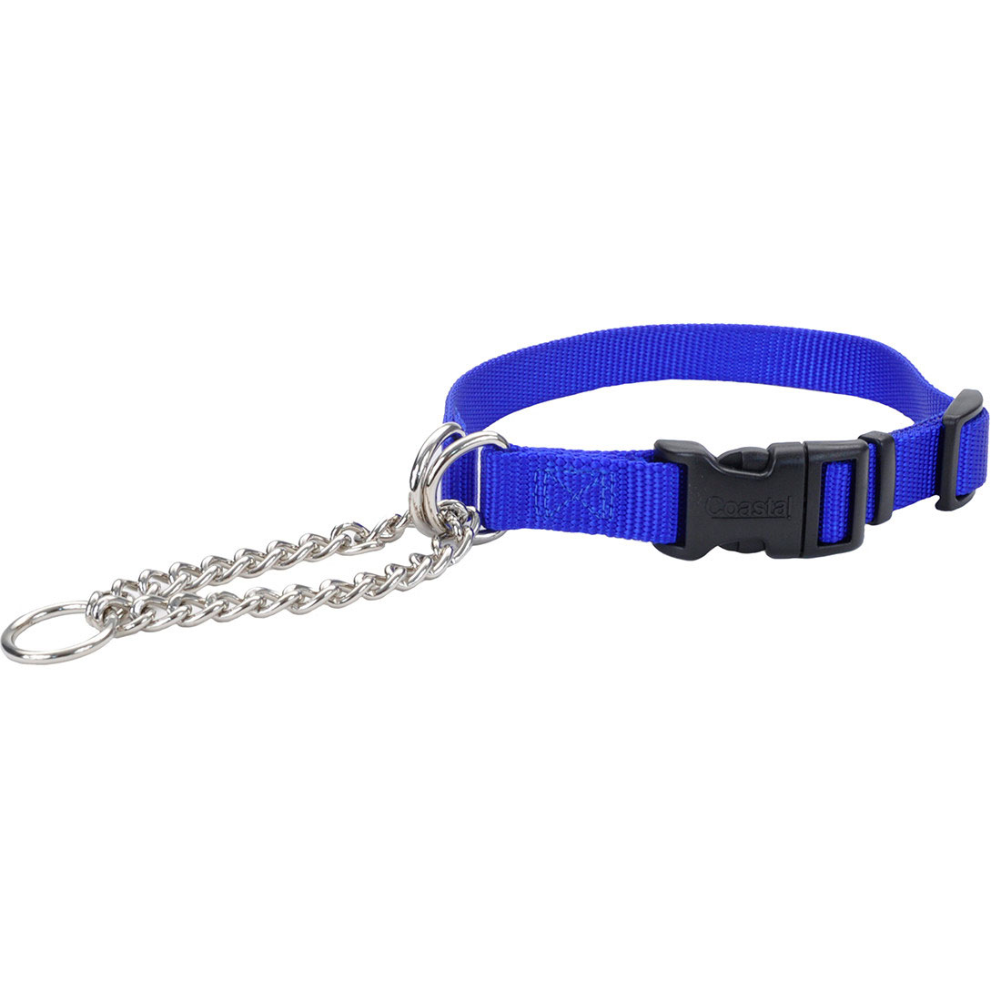Coastal Adjustable Check with Buckle Training Dog Collar, Blue, 3/8-in x 11-15-in