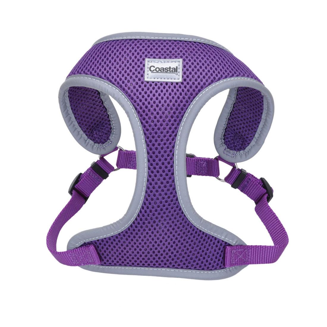 Coastal Comfort Soft Reflective Wrap Adjustable Dog Harness, Purple, X-Small