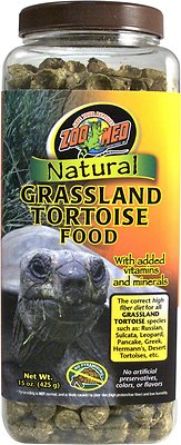 Zoo Med Natural Grassland Tortoise Food, 15-oz jar