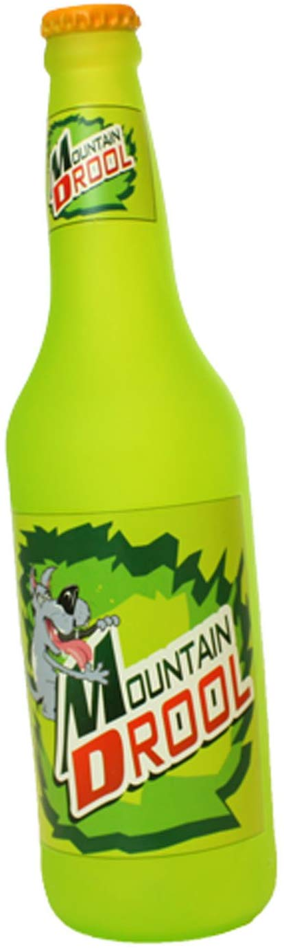 Silly Squeakers Beer Bottle Mountain Drool Dog Toy