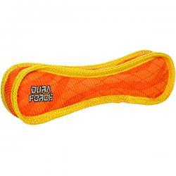 DuraForce Bone Tiger Dog Toy, Orange/Yellow, Regular
