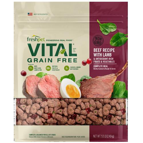 Freshpet Vital Beef Recipe with Lamb Grain-Free Dry Dog Food, 5.5-lb