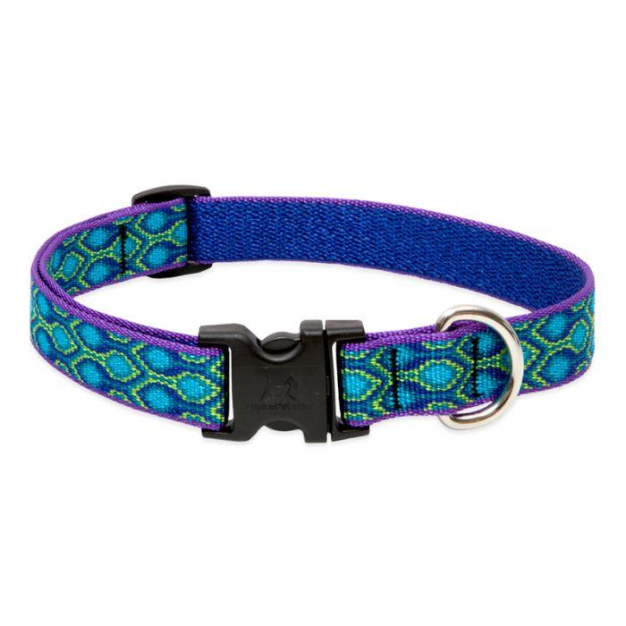 Lupine Pet Original Designs Adjustable Dog Collar, Rain Song, 3/4-in x 13-22-in