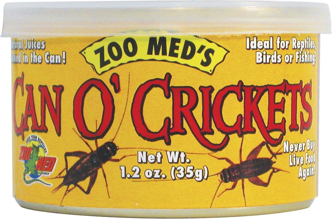 Zoo Med Can O' Crickets Reptile & Bird Food, 1.2-oz can Image