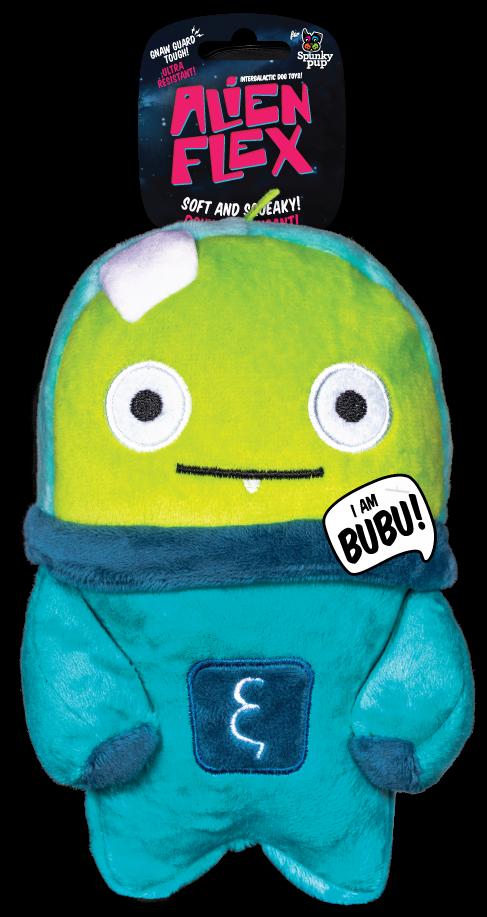 Spunky Pup Alien Flex Plush Bubu Dog Toy