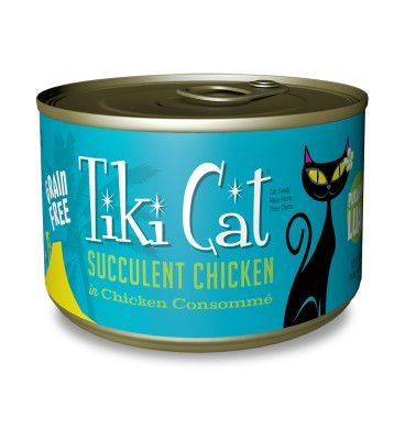 Tiki Cat Puka Puka Luau Succulent Chicken in Chicken Consomme Grain-Free Canned Cat Food, 6-oz can