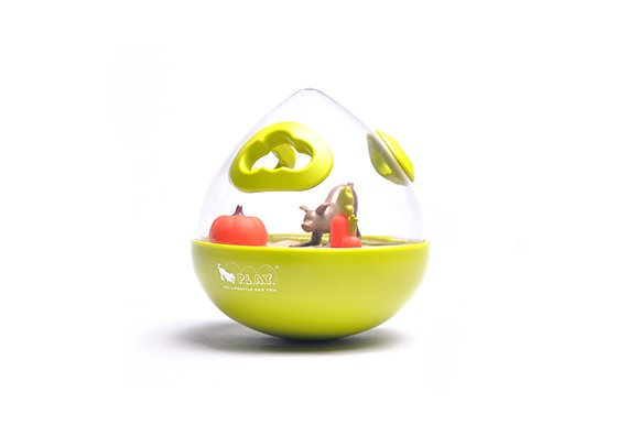 P.L.A.Y. Wobble Ball 2.0 Treat Dispensing Dog Toy, Green