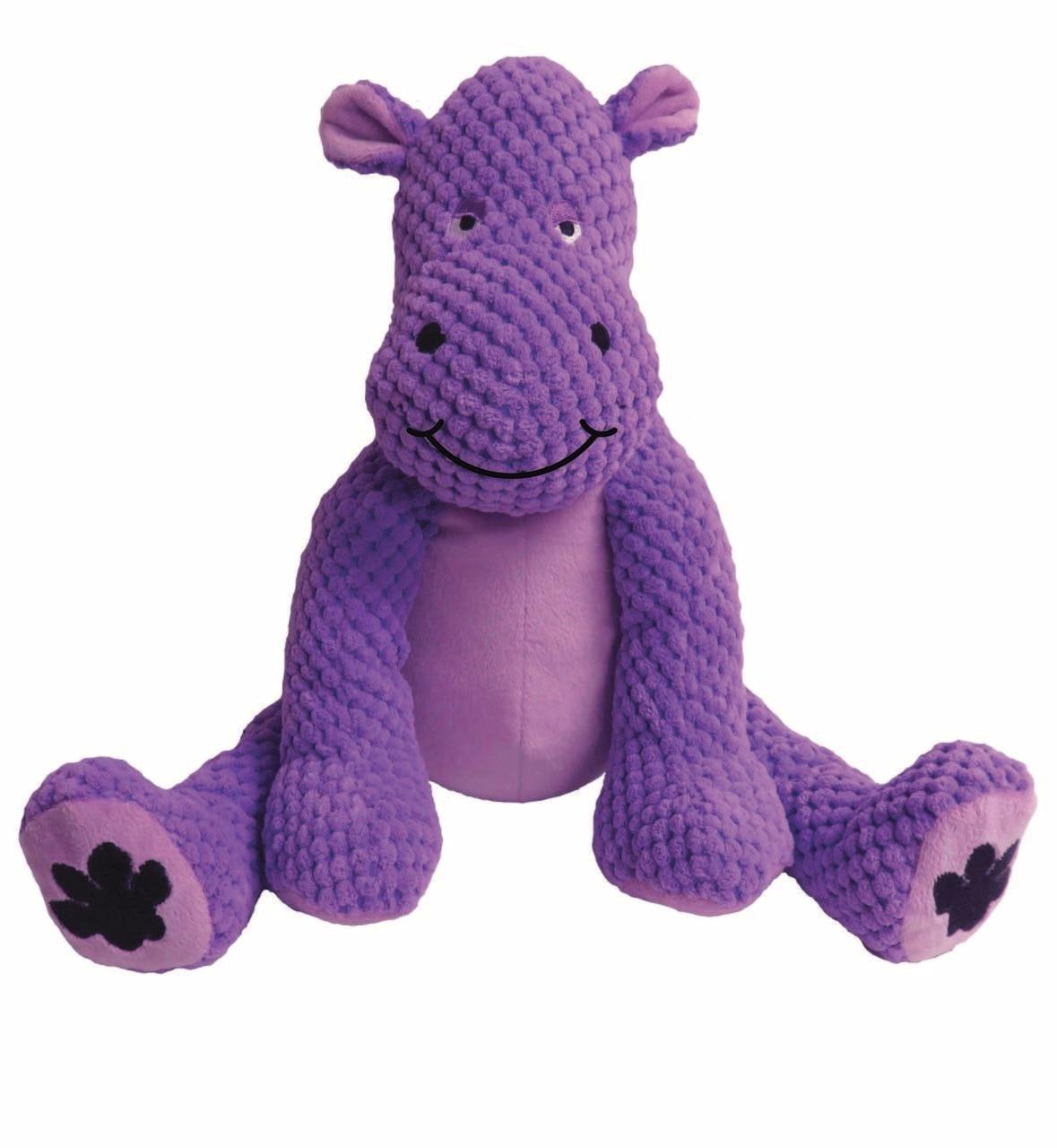 fabdog Floppy Plush Dog Toy, Hippo, Large