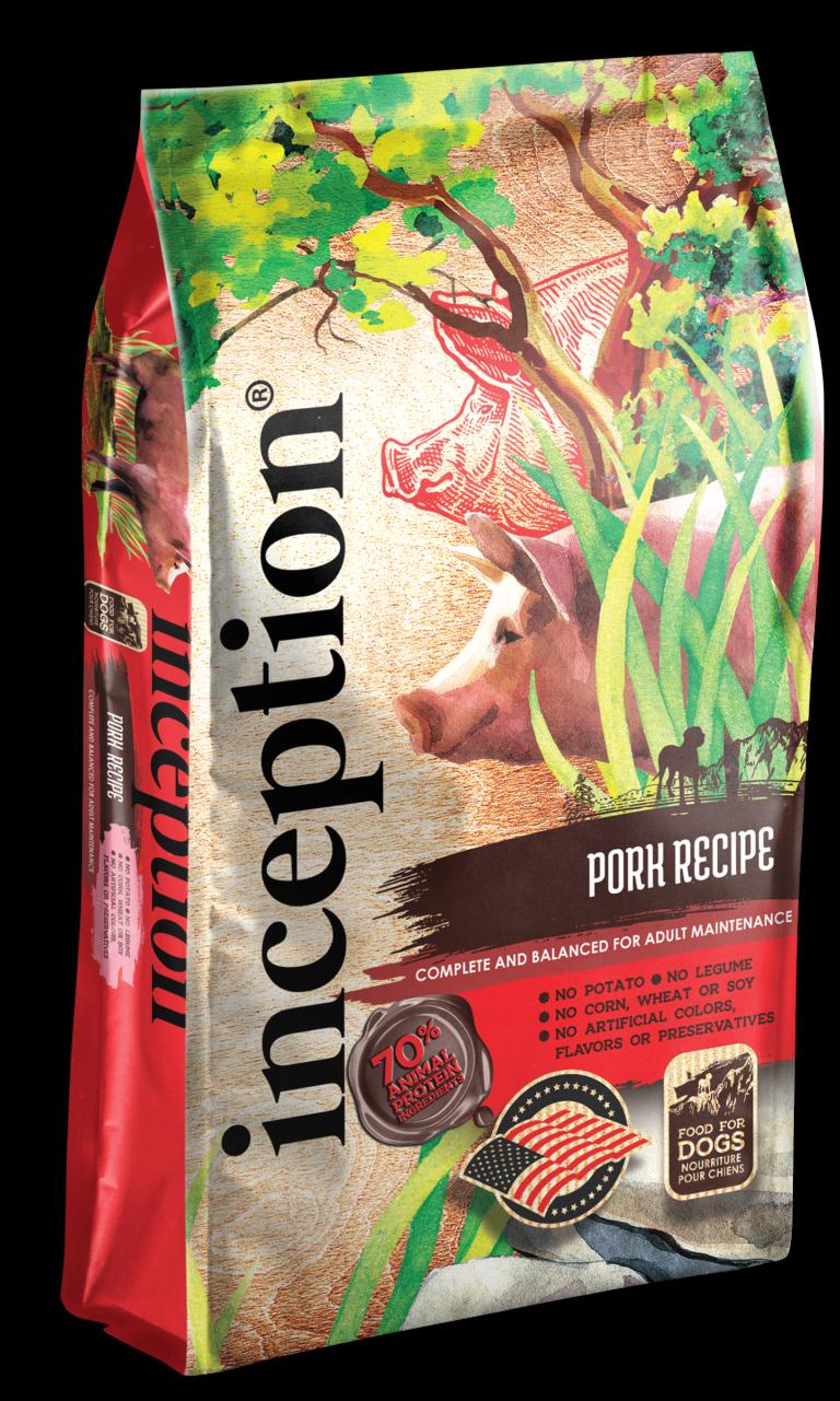 Inception Pork Recipe Whole Grain Dry Dog Food, 27-lb bag