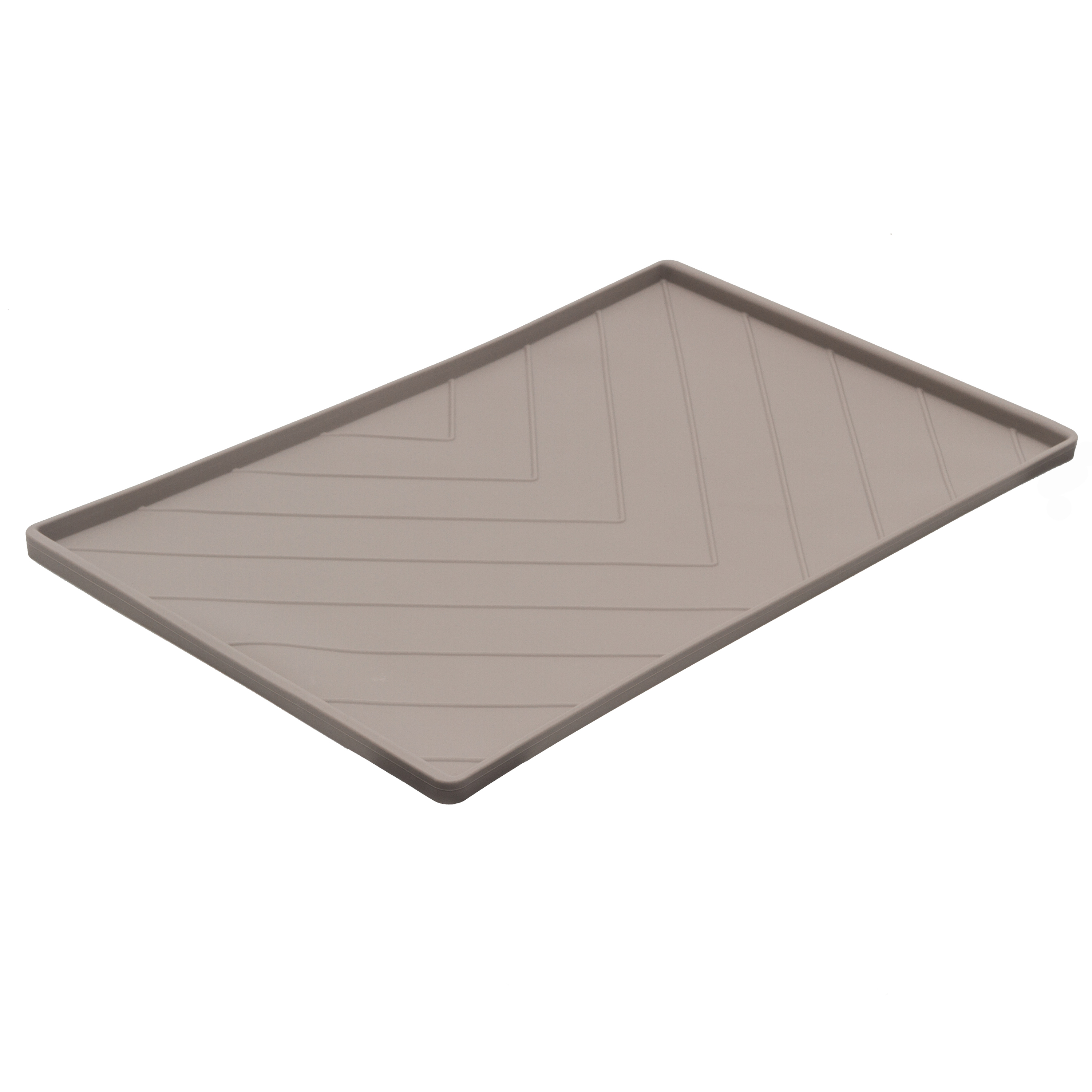 Messy Mutts Silicone Mat with Metal Rods, Gray, Medium
