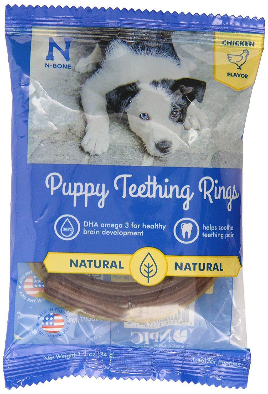 N-Bone Puppy Teething Ring Chicken Flavor Dog Treats, 1-pk