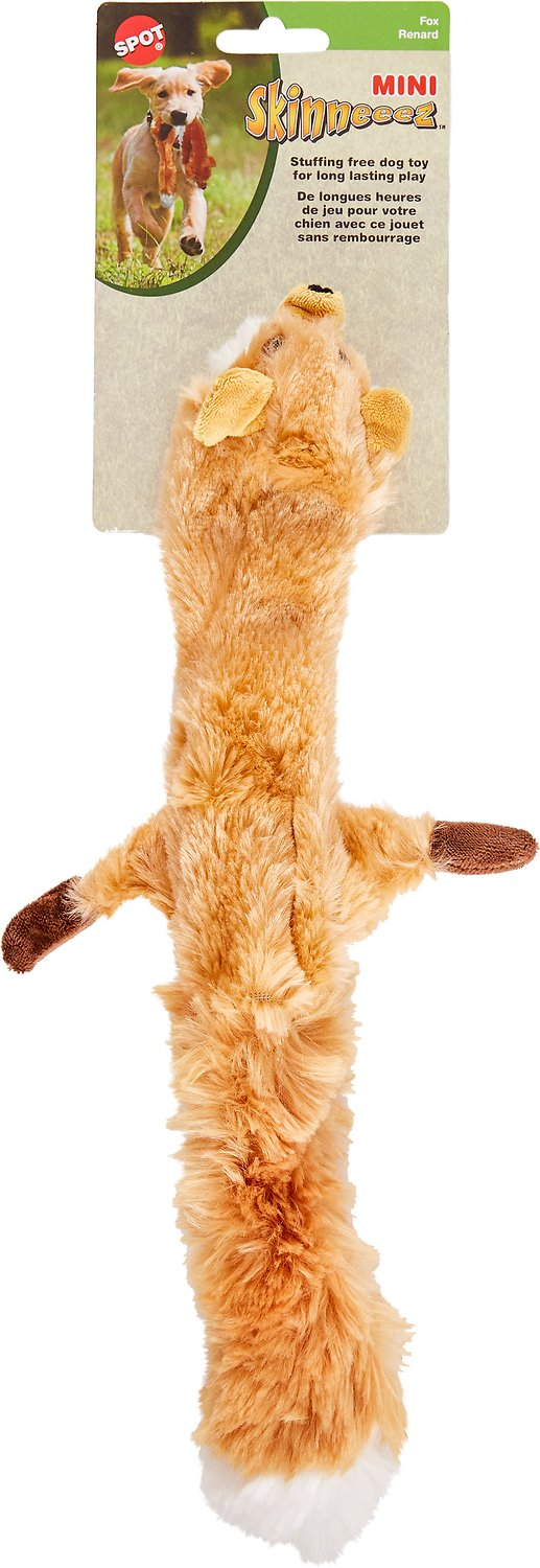 Ethical Pet Skinneeez Forest Series Fox Stuffingless Dog Toy Image
