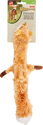 Ethical Pet Skinneeez Forest Series Fox Stuffingless Dog Toy, 14-in