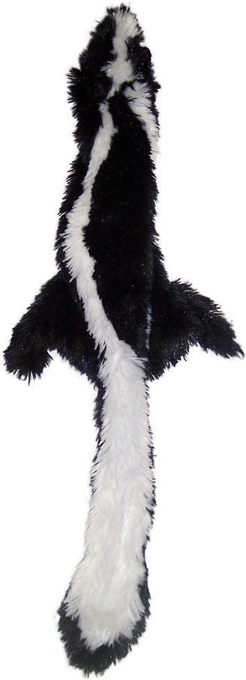 Ethical Pet Skinneeez Forest Series Skunk Stuffingless Dog Toy Image