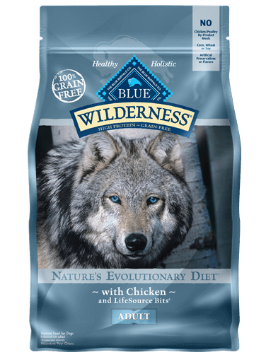 Blue Buffalo Wilderness Adult Chicken Grain-Free Dry Dog Food, 24-lb bag