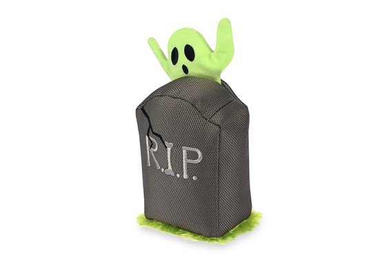 P.L.A.Y. Howling Haunts Tombstone Ghoulish Grave Dog Toy