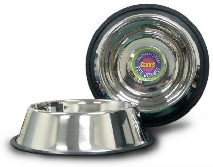 Cadet Non-Spill Stainless Steel Dog Bowl, 32-oz