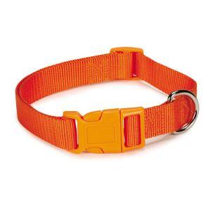 ZACK & ZOEY Nylon Dog Collar, Orange, 6-10-in