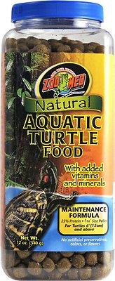 Zoo Med Natural Aquatic Maintenance Formula Turtle Food, 12-oz jar