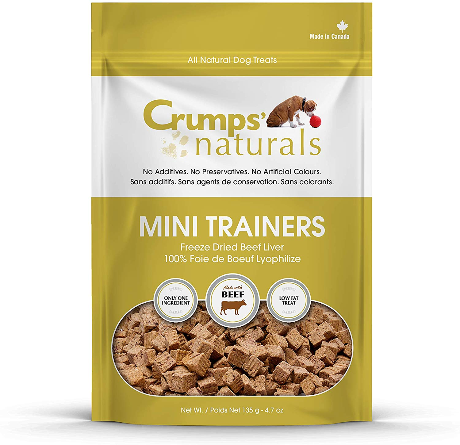 Crumps' Naturals Beef Liver Freeze-Dried Dog Treats, 3.7-oz