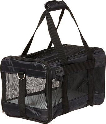 Sherpa Original Deluxe Pet Carrier, Black, Medium