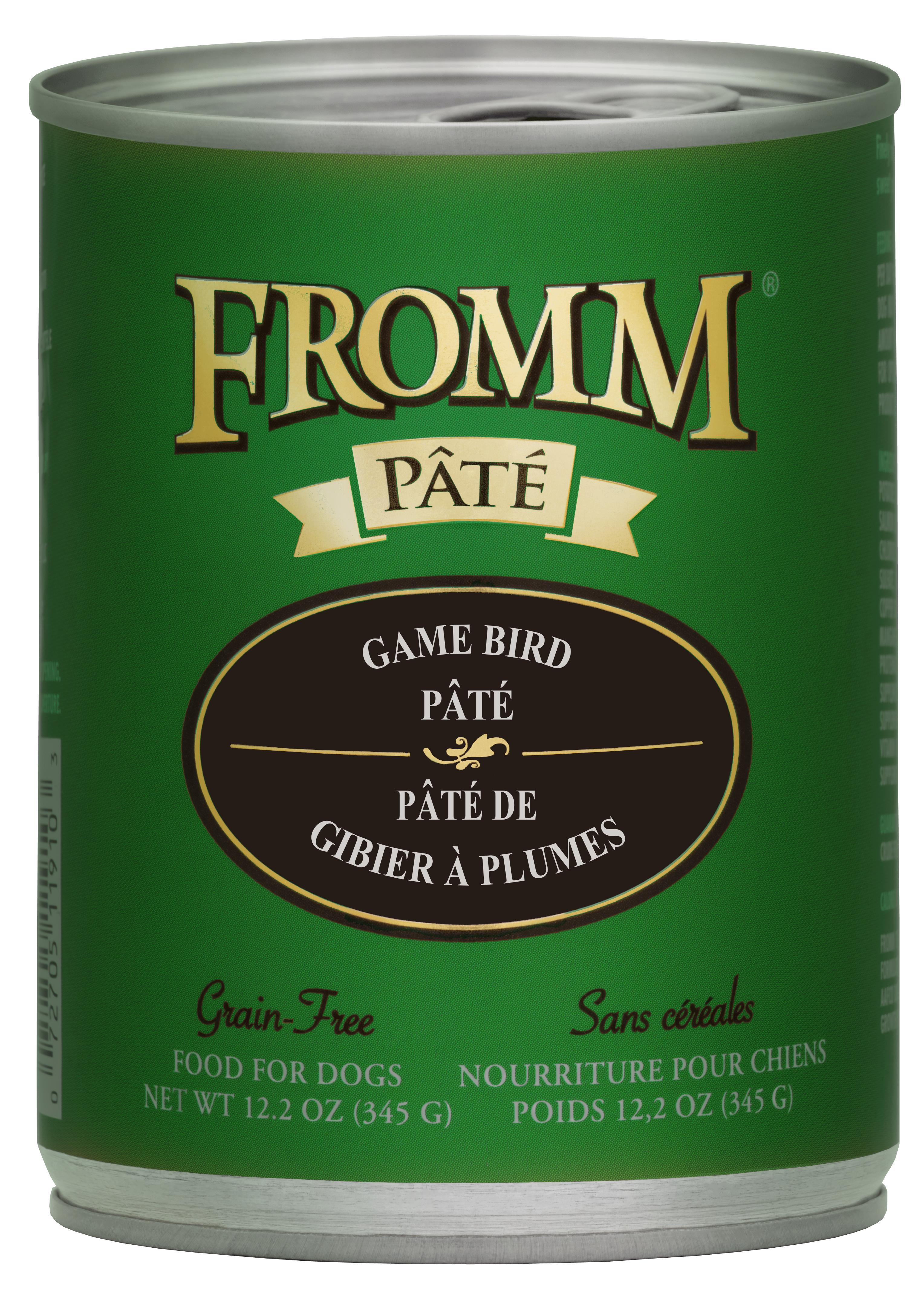 Fromm Game Bird Pate Canned Dog Food, 12.2-oz, case of 12