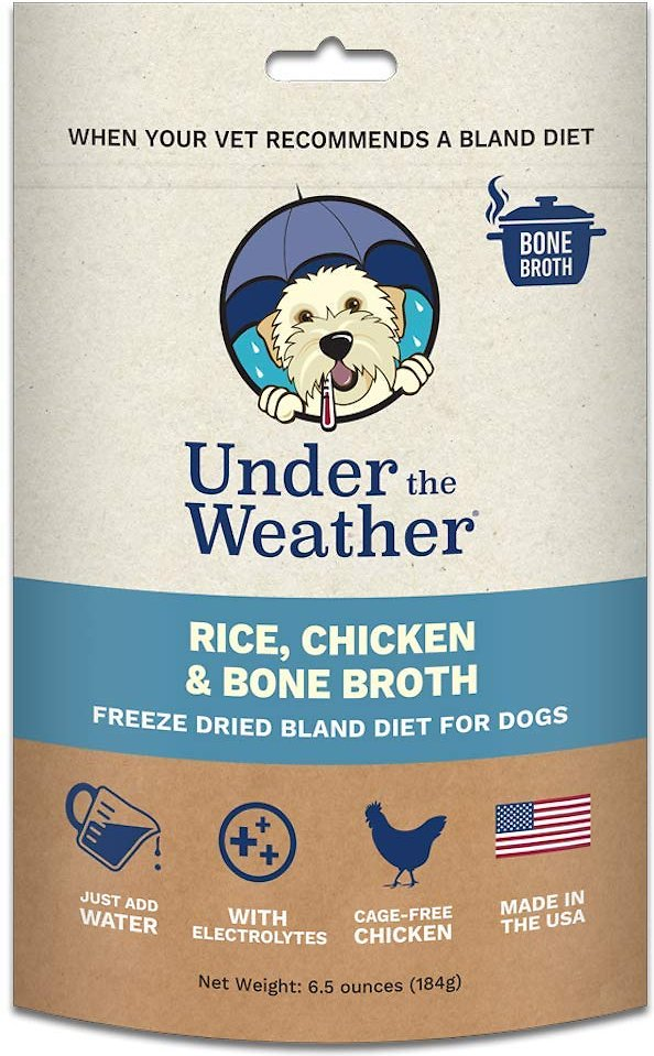 Under the Weather Rice, Chicken & Bone Broth Freeze-Dried Dog Food, 6.5-oz
