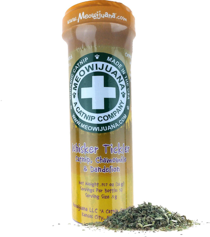 Meowijuana Whisker Tickler Catnip, Chamomile, & Dandelion Blend, 26-g