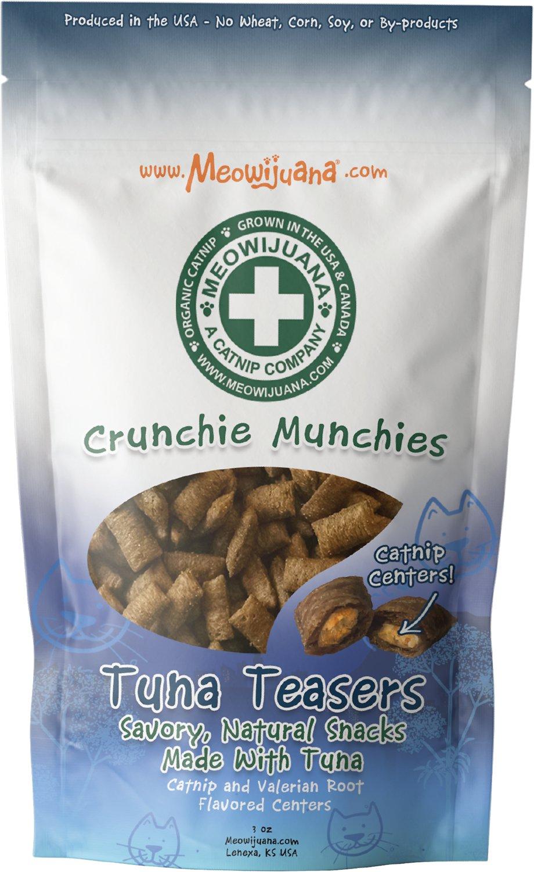 Meowijuana Crunchie Munchie Tuna Cat Treats, 3-oz
