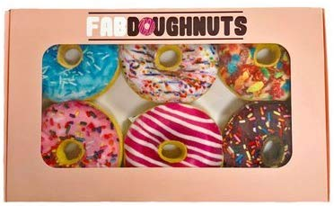 fabdog Box of Doughnuts Dog Toy, 6-pack