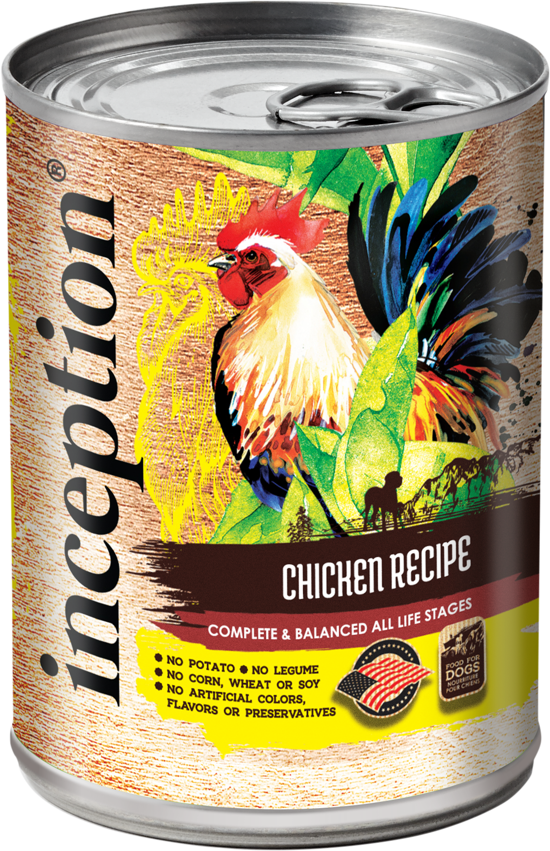 Inception Chicken Recipe Wet Dog Food, 13-oz