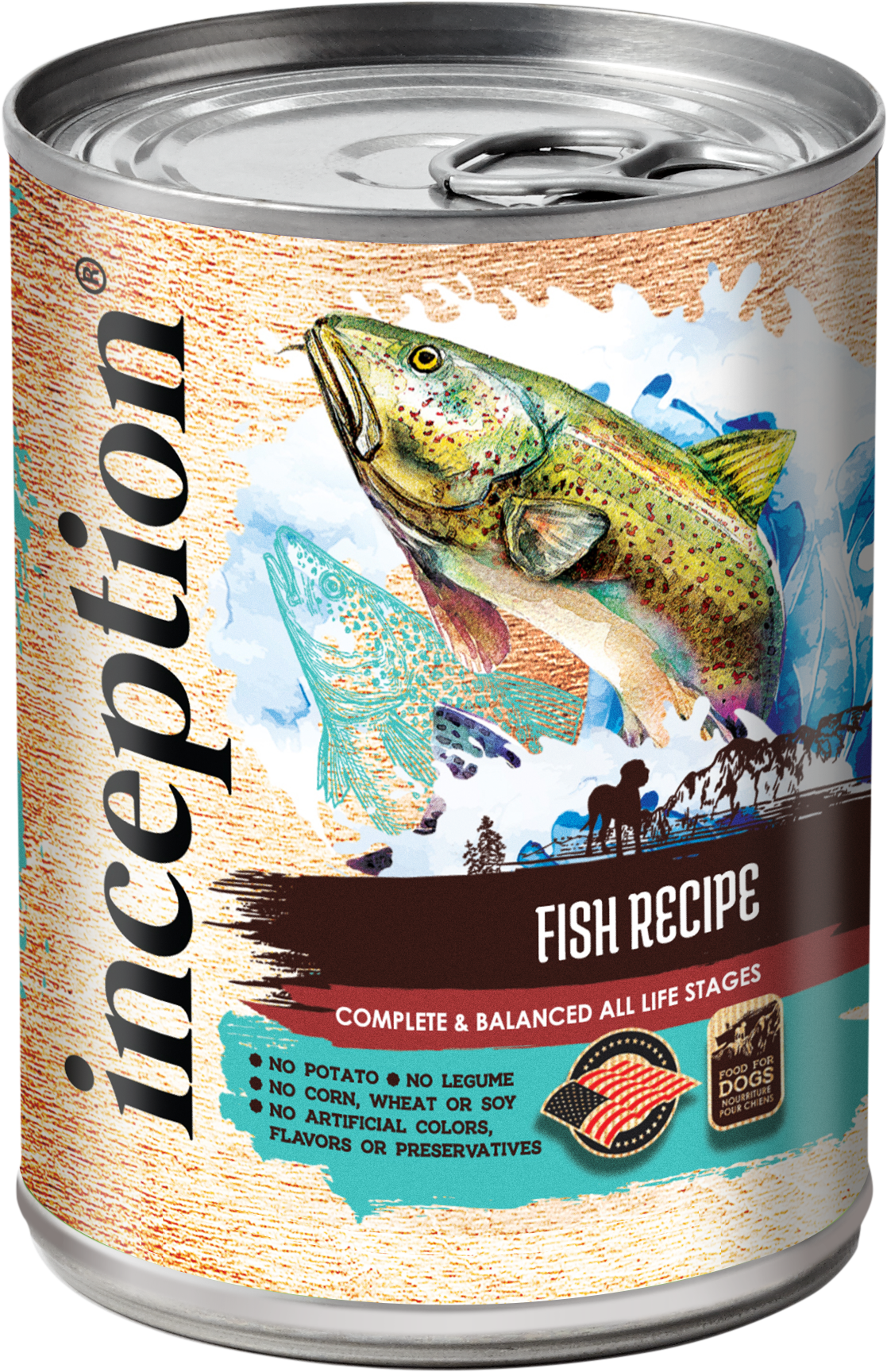 Inception Fish Recipe Wet Dog Food, 13-oz