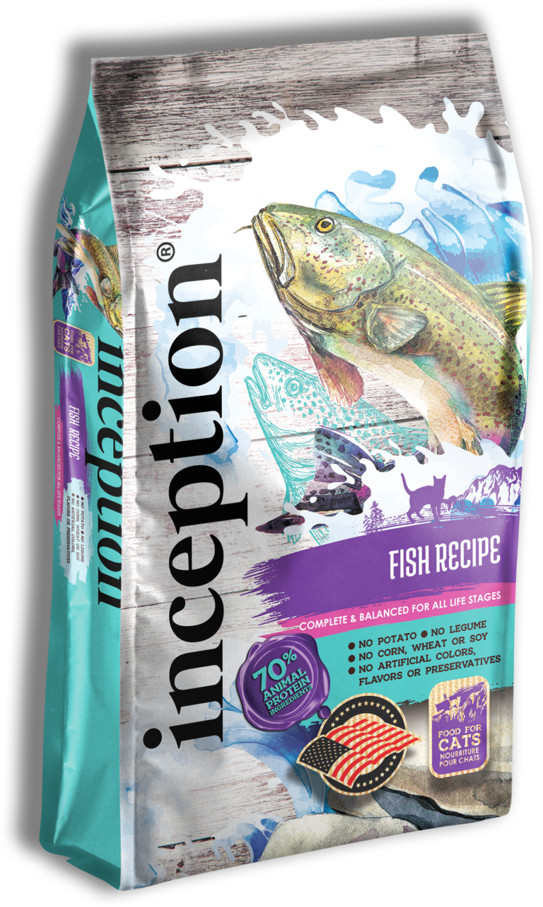 Inception Fish Recipe Dry Cat Food, 4-lb