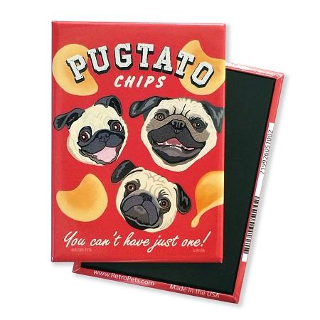 Retro Pets Pugtato Chips Magnet