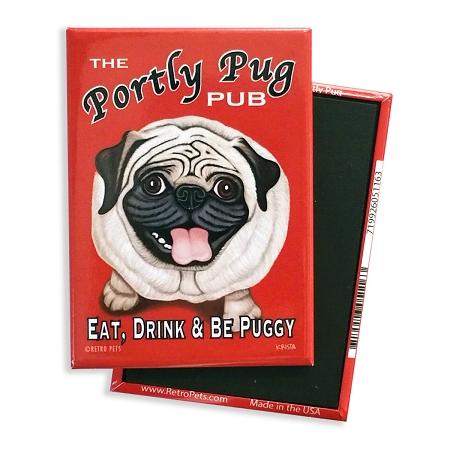 Retro Pets Portly Pug Magnet