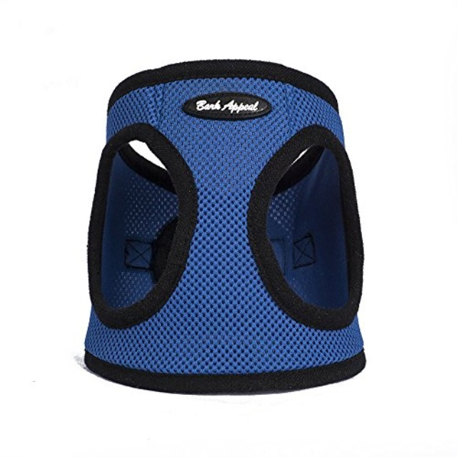 Bark Appeal Mesh EZ Wrap Step In Dog Harness, Blue, X-Large