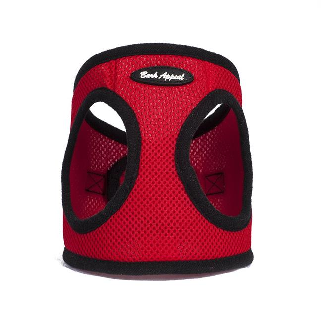 Bark Appeal Mesh EZ Wrap Step In Dog Harness, Red, Small