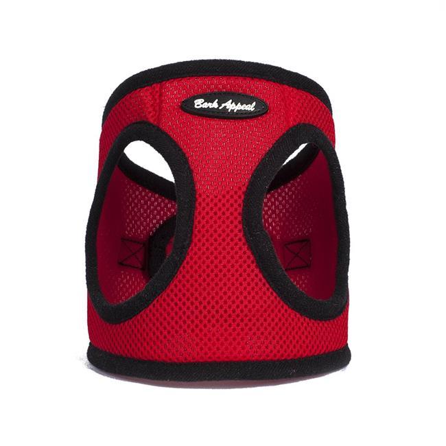 Bark Appeal Mesh EZ Wrap Step In Dog Harness, Red, Medium