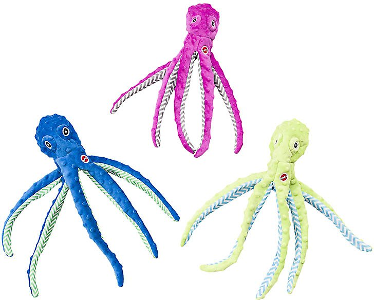Ethical Pet Skinneeez Extreme Octopus Dog Toy, Color Varies, 16-in
