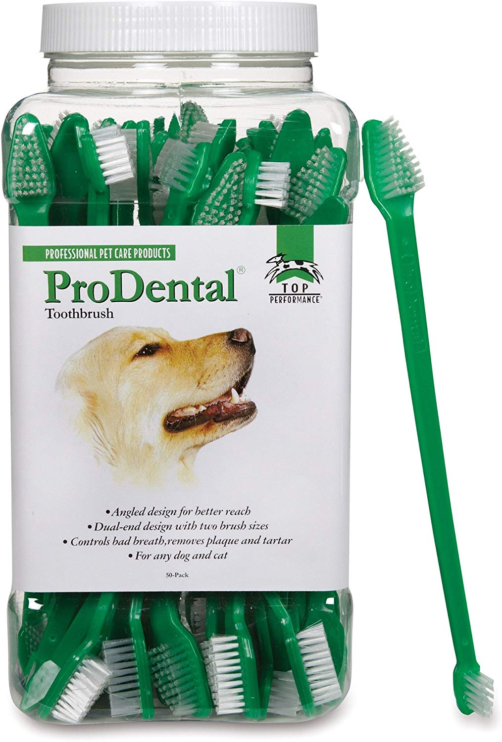 Top Performance ProDental Dual-End Dog Toothbrush Image