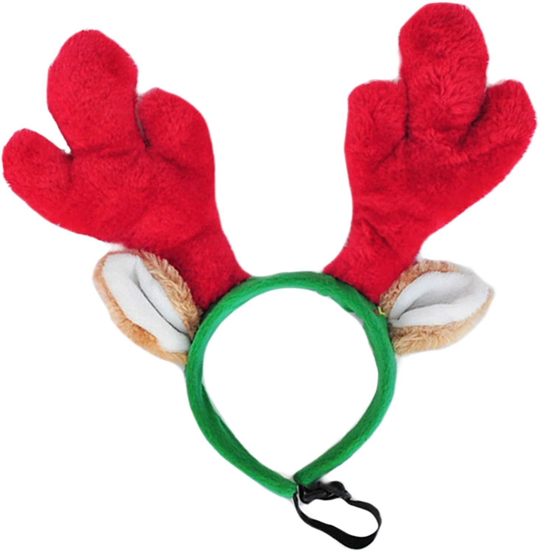 ZippyPaws Holiday AntlersDog Headband, Large