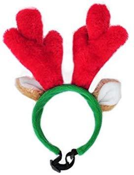 ZippyPaws Holiday AntlersDog Headband, Small