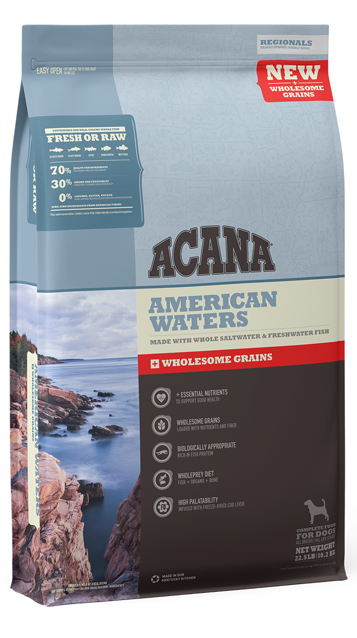 ACANA Wholesome Grains American Waters Dry Dog Food, 11.5-lb