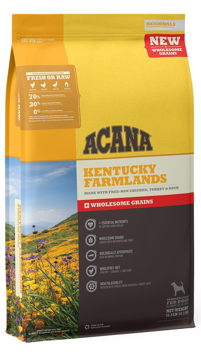 ACANA Wholesome Grains Kentucky Farmlands & Grains Dry Dog Food, 11.5-lb