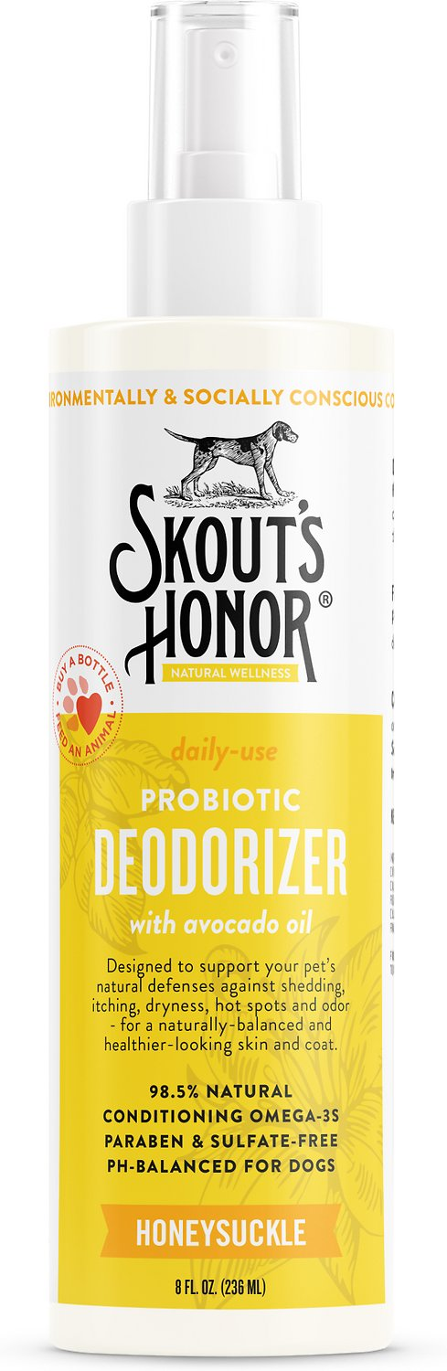 Skout's Honor Probiotic Honeysuckle Daily Use Pet Deodorizer, 8-oz bottle