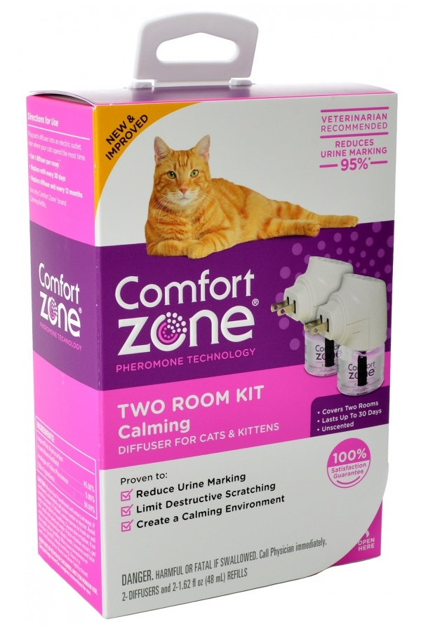 Comfort Zone Two Room Kit Calming Diffuser for Cats & Kittens, 2-pk